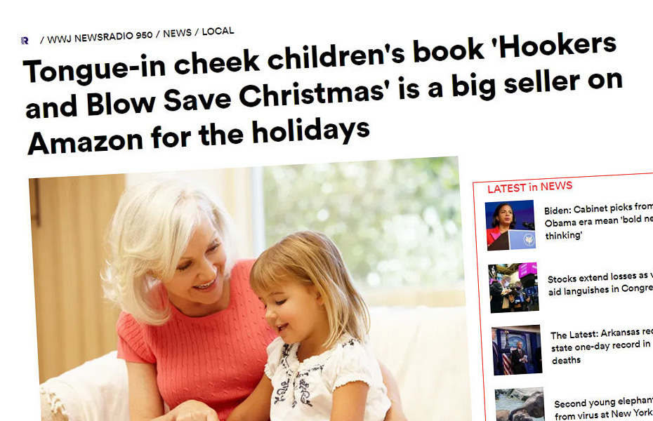 wwj says hookers and blow save christmas is a big seller on amazon